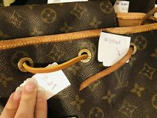 """7169dcafff89 1 5x43"""" fit Louis Vuitton DrawString Leather Draw String Montsouris  Backpack NOE"""
