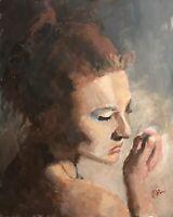 Original Jeffrey Lloyd Barnes 20x16 Realism Figure Portrait Painting Woman