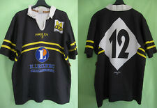 Maillot Rugby USC Carcassonne Porté #12 Vintage 90'S Force XV Jersey - XL