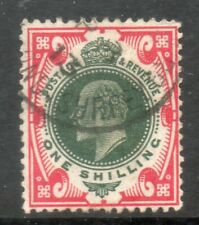 1912 SG313 SPEC M47 (2), 1/- Deep Green and Scarlet   cds
