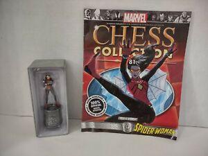 Marvel Chess Magazine #81 Spider-Woman White Bishop Eaglemoss Avengers SHIELD