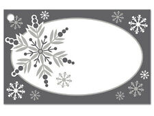 50ct. CHRISTMAS SNOWFLAKE Floral Blank Florist Enclosure Cards Small Tags