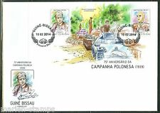 GUINEA BISSAU  2014 75th ANN OF THE INVASION OF POLAND START OF WW II SS FDC