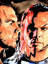 Hardy Boys 18 x 24 Print, Poster Painting WWE TNA WWF Wrestling Matt Jeff Hardyz