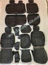 Katzkin Ram 2500 3500 Big Horn Crew Cab Black Leather Seat Covers - Front Bench