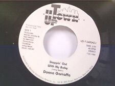 """DONNA GARRAFFA """"STEPPIN OUT WITH MY BABY / LONG VERSION"""" 45 PROMO MINT"""