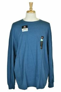 Fruit of the Loom Men Tops T-Shirts XXL Blue Cotton