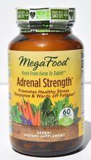 MegaFood Adrenal Strength Stress Supplement 60 ct Exp 7/21 Ashwaganda Reishi C
