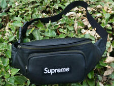 Supreme Leather Waist bag Fanny Pack black SS17 - NEW