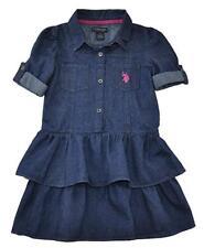 US Polo Assn Girls Blue Denim Dress