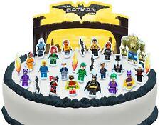 Cakeshop PRE-CUT The Lego Batman Movie Edible Cake Scene - 26 pieces