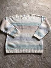 Reiss Pastel Stripe Wool Jumper Size M