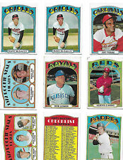 1972 Topps Baseball lot of 18 cards Aparicio McNally, Set Fillers, Torre, Weaver