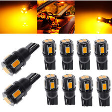 10x T10 921 High Power 6*Led Yellow License Plate Light Bulb 3000K Yellow Good (Fits: Neon)