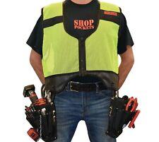 Elite Tool Vest Electrician Carpenter Plumber Construction Bag Utility XL Yellow