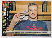 2018-19 Upper Deck Game Dated Moments Cale Makar 1st Goal #87 Rookie
