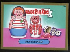 2015 Topps Garbage Pail Kids GPK Serie1 GOLD Parallel #24a - NESTED NED