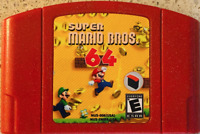 Super Mario Bros. N64 Hack Nintendo Video Game Cartridge Custom Fan Made - New