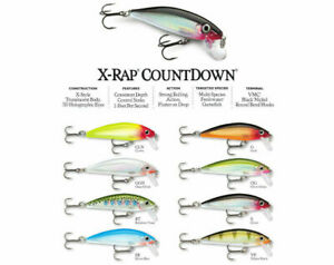 Rapala X Rap Countdown 5/7 CM Artificial Fishing Sinking Trout Bass