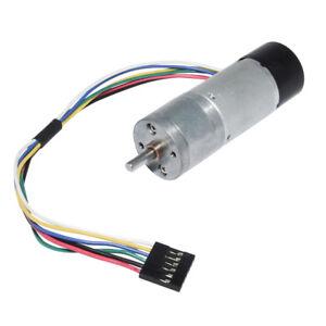 Metal Gear Motor DC12V/24V 12RPM Hall Sensor Encoder for Arduino Robot 370 Motor