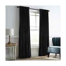 Dreaming Casa Darkening Black Velvet Curtains for Living Room Thermal Insulat...