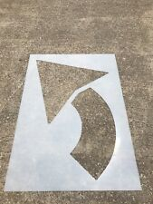 New listing  60 In Parking Lot Stencil Curved Arrow Stencil (1/8� thick) Ldpe Reuseable