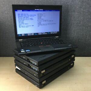 Job lot of 6 x Lenovo ThinkPad T430, Intel i5, 4GB RAM, No HDD, fully tested
