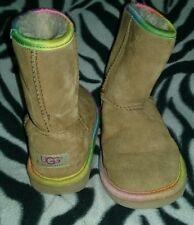 UGG Girls Classic Short Rainbow Boots Size 1 SN 1006063K ~ Free Shipping!