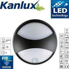 Elner Indoor Outdoor Garden Black 15w LED Wall Light Exterior Up Down PIR Sensor