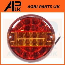 12V LED Round Rear Brake Tail Light Lamp Trailer Truck Lorry 3 Func 142mm 5.5""