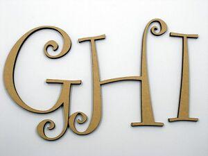 10cm Large MDF Wooden Letter Words Wood Alphabet Name Cur