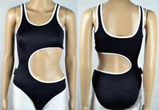 GILDA MARX Bodysuit Ladies S/36/8 1 piece sexy Swimsuit Black  Festival 196-7F