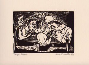 """Royal Flash"" WWII - Leon Gordon Miller, Wood Engraving signed numbered & titled"