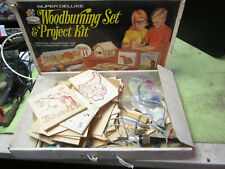 Rapco 70s Unsafe Toy Woodburning Project Set Vintage Super Deluxe Wood-Burning