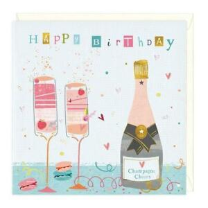 Happy Birthday Champagne Cheers Eco Card Whistlefish add any cards for discount