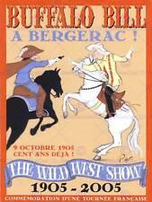 Annuncio Wild West Show Buffalo Bill BERGERAC francese Coup l'étrier stampa BB7205