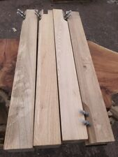 Set 4 Ash Dining Table Legs 8cm Square Chunky and Heavy