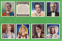 Tobacco Cigarette cards set Cinema Flim Characters 1938 Cleopatra.Buffalo Bill,