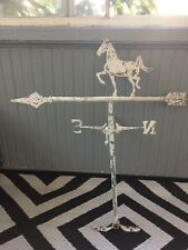 "Antique metal/iron horse weather vane. Beautiful patina! 27 1/2""x25"""