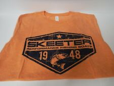 New Skeeter Tri-Blend Short Sleeve T Shirt  Orange    3XLarge