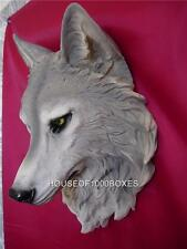 WOLF HEAD WALL MOUNT LARGE WOLVES TIMBER WOLF LODGE REMUS LOG CABIN DOG