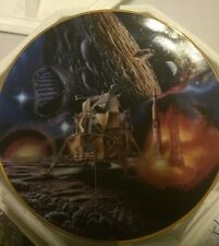 Moon Landing Plate from Hamilton Collections.Miles Stones In Space Coa