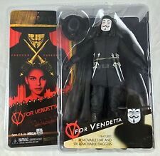 "V for Vendetta 7"" Action Figure Removable Hat 6 Daggers **NEW** [NECA REEL 2006]"