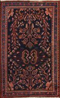 Vintage Viss Geometric Hand-knotted Area Rug Traditional Oriental 3'x5' Carpet
