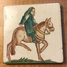 "Antique English 4"" Tile ""Sergeant-At-Law 4; Rhotico Co. Ceramic Tile"