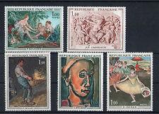 France 5 timbres non oblitérés gomme**  5  Art  peintures - sculptures