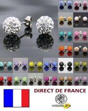 Lot de 10 paires de boucles d'oreilles shamballa revendeur palette marché bijoux