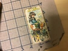 Original Wood & Paper Litho block - double sided - Q & L; QUEEN OF ?, ? DOLL