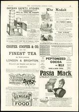1889 Antiguo Publicidad Impresa-Pasta Mack hierático mejores Té Kodak (230)
