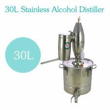 30L Alambic Distillateur Eau Inox Thermomètre Alcool Huile essentielle whisky EU